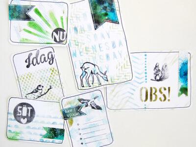 Hemgjorda PL-kort med vilda djur