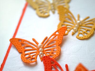 Kort med fjärilar