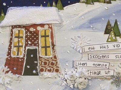 Christmas paintings in mixed media