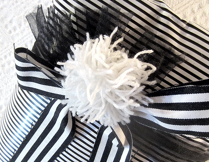 Julklappar i svart och vitt