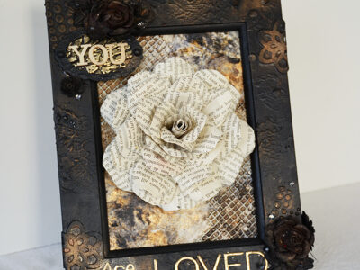 Book rose with tutorial