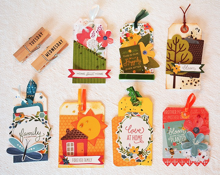 A set of to-do tags
