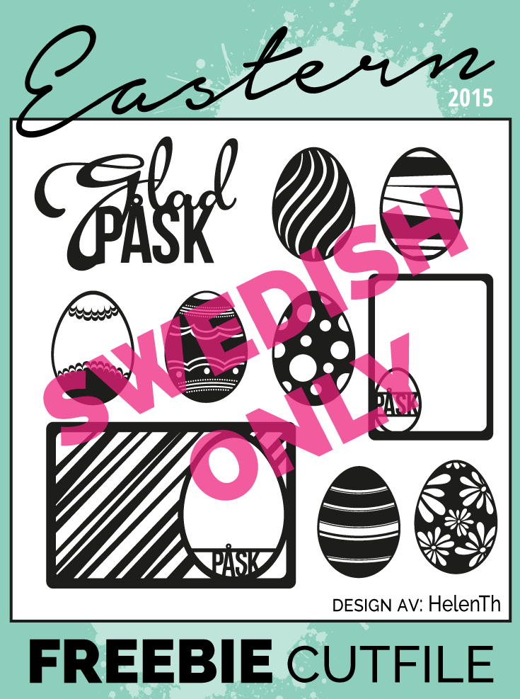 Free cutfile with Easter motifs