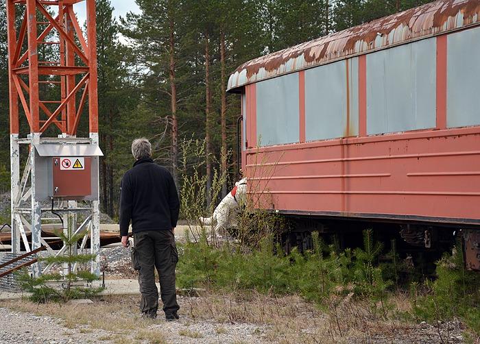 järnvägsvagn på sökträning