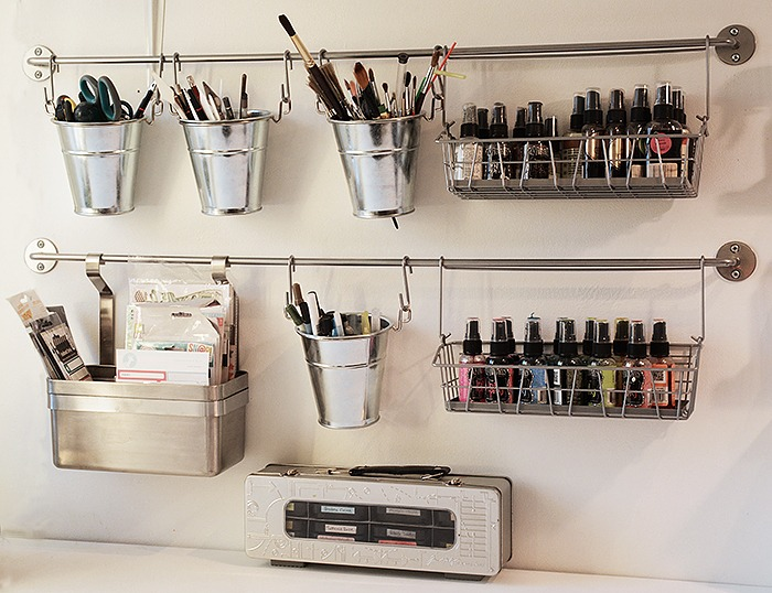 Craftroom, rod storage