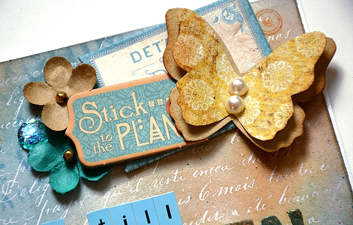 Card with Tim Holtz Paper Stash Resist