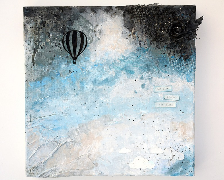 Mixed media with airballoon