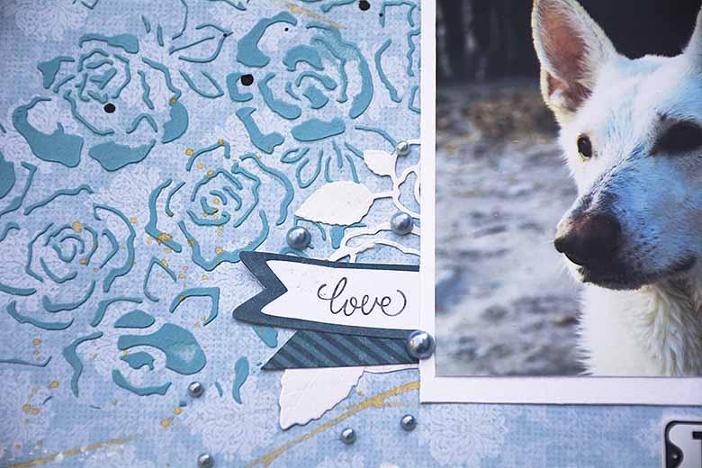 Prima 6X6 Stencils - Fading Floral
