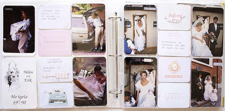 Bröllopsalbum, innan vigseln ägde rum