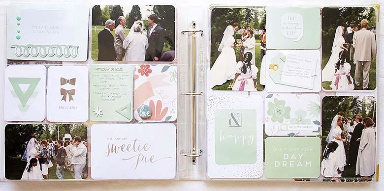 Nytt bröllopsalbum med gamla foton