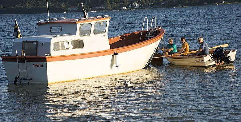 Stugsista med båtbestyr