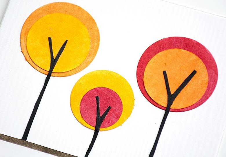 5 kort med cirklar