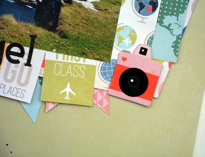 Tintagel - Pink Paislee - Atlas - Chipboard Stickers