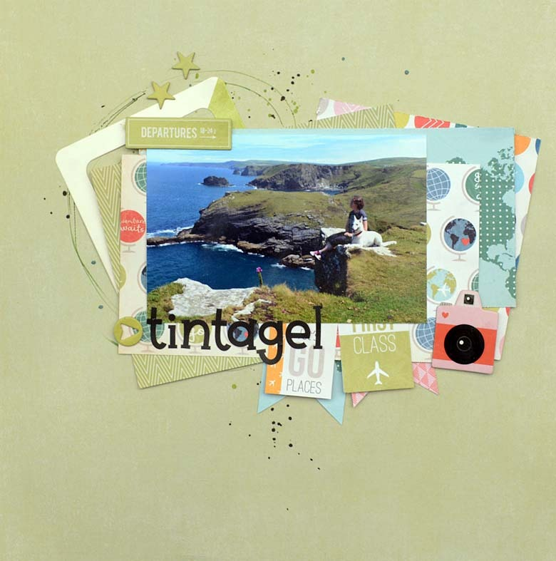 Tintagel - a layout made by HelenTh with products från Pink Paislee - Atlas.