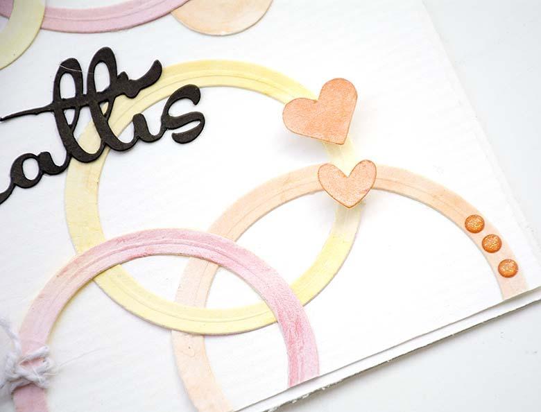 Cirklar med akvarellfärger