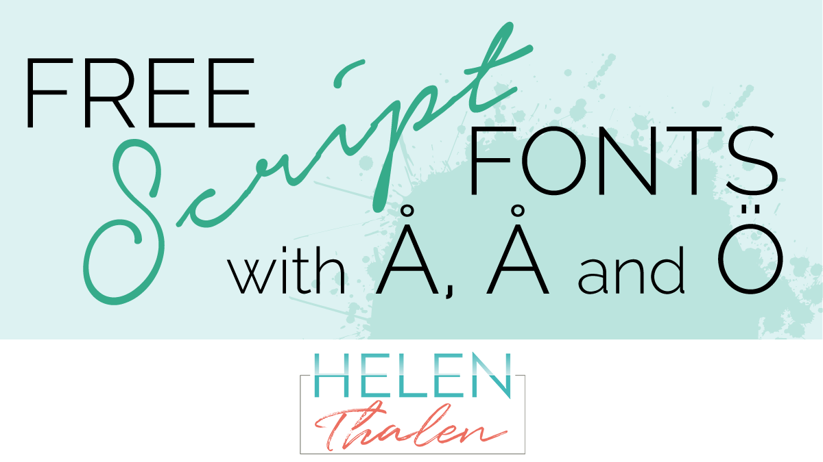 Free script fonts with swedish letters