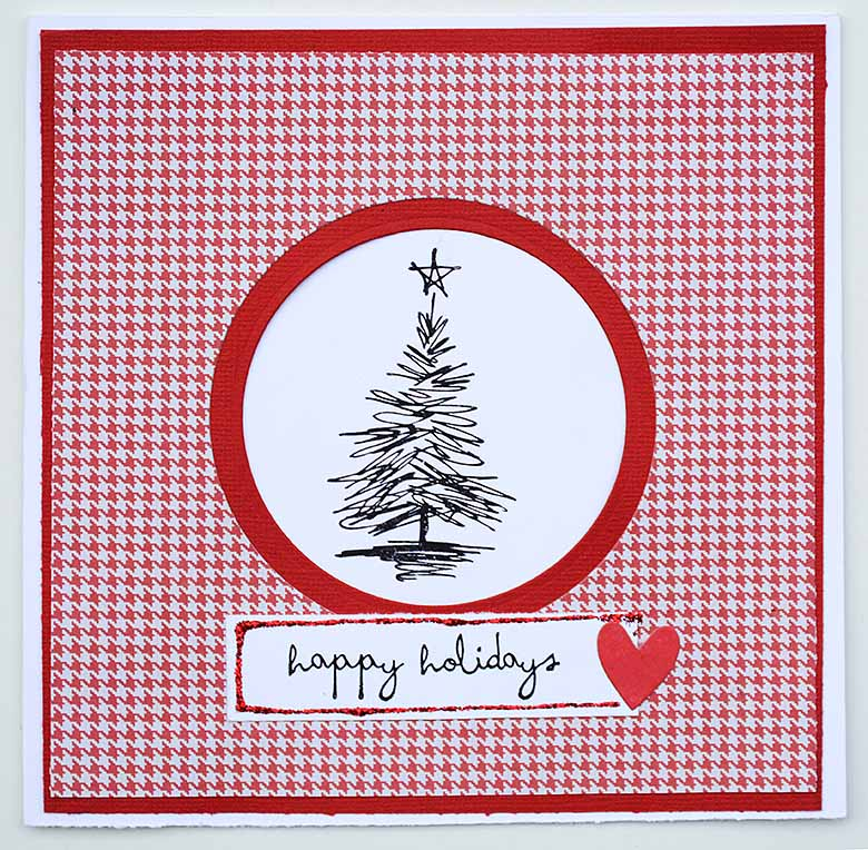 Quick Christmas card with Tim Holtz christmas tree