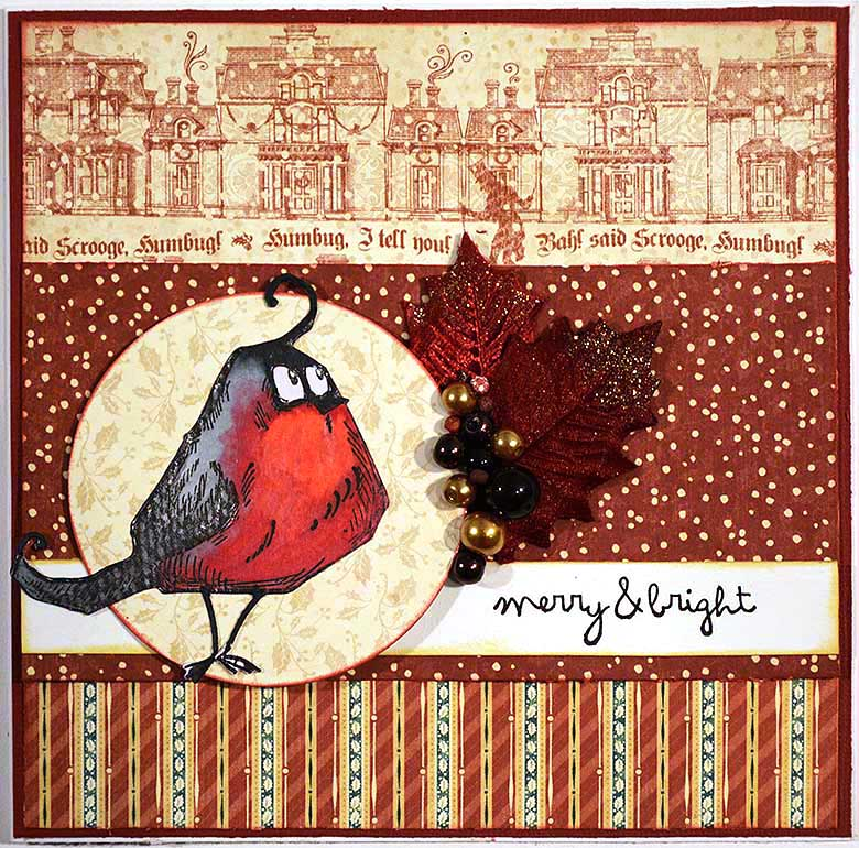 Tim Holtz - Bird Crazy Bullfinch by HelenTh
