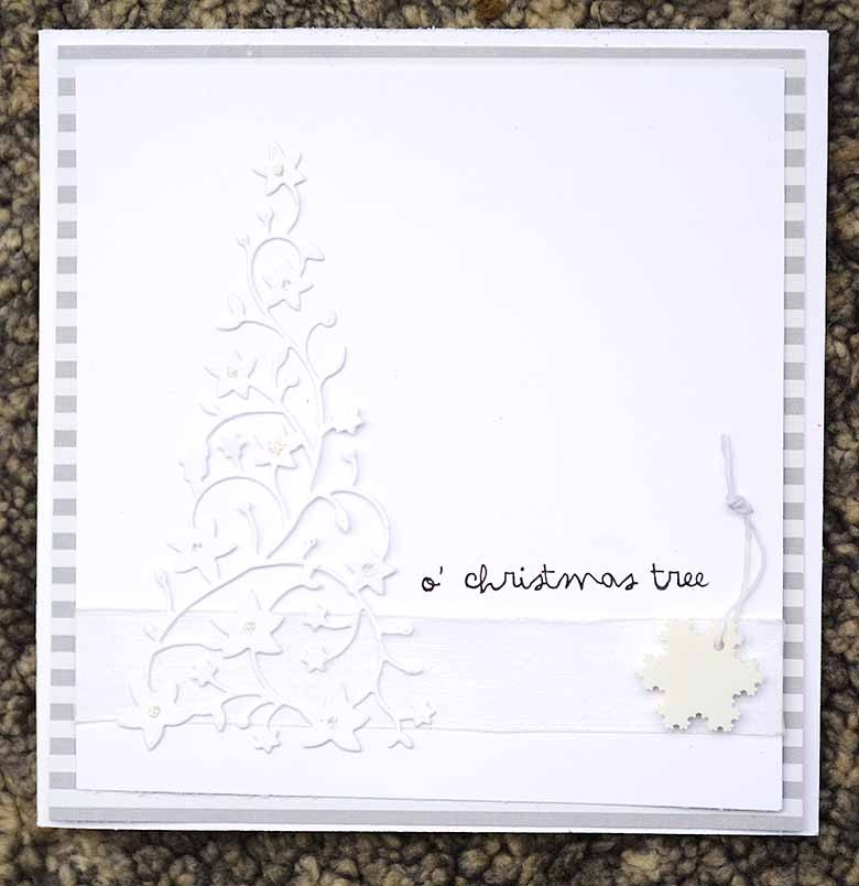 White Christmas card by HelenTh