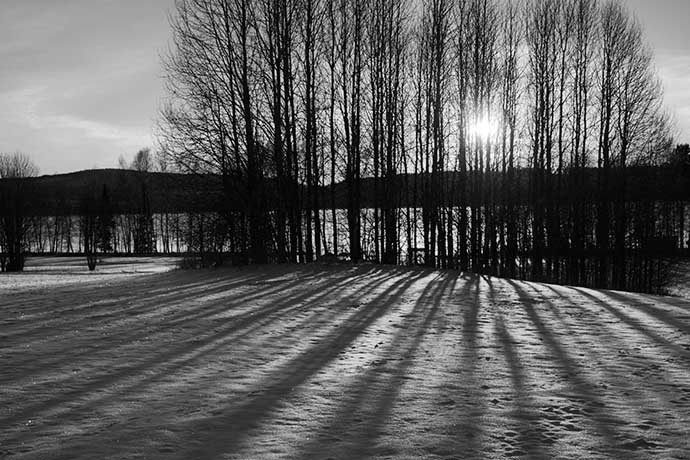 Black and white landscape by Helens Color Life
