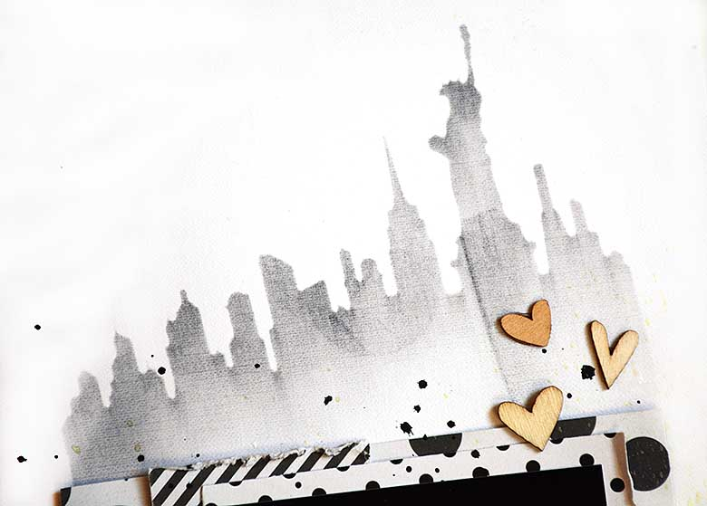 Hello NY, silhouette, by HelenTh