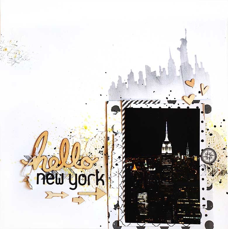 Hello New York, scrapbooking layout by HelenTh