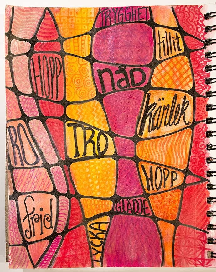 Art Journal page - words by Helens Color Life
