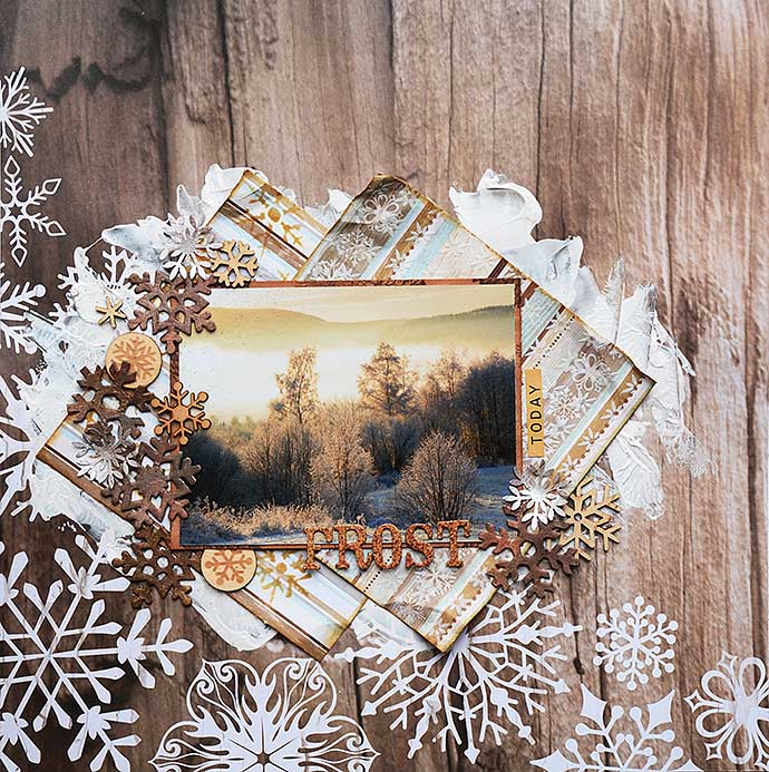 Frost, scrapbooking LO by Helens Color Life