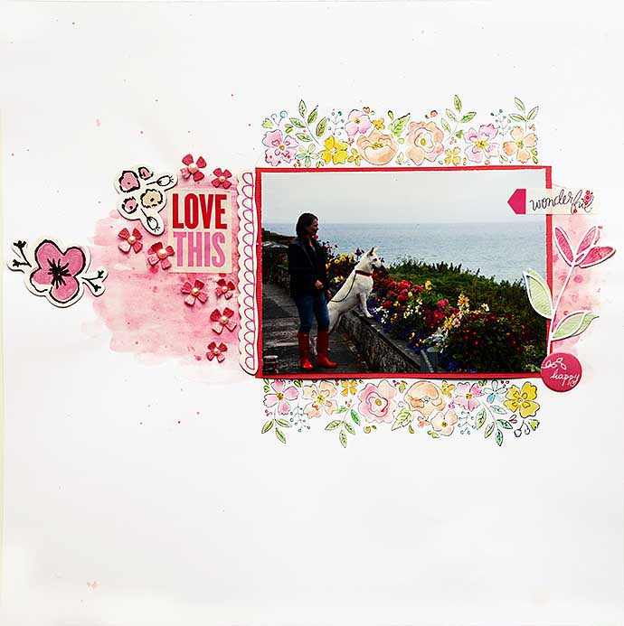 Love this, scrapbooking layout 2 by Helens Color Life