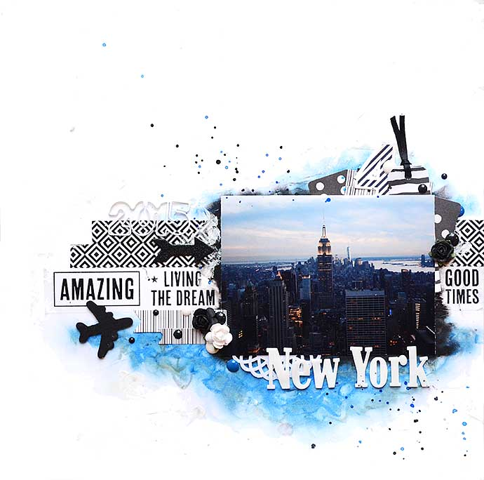 Scrapbooking layout - New York skyline - by Helens Color Life