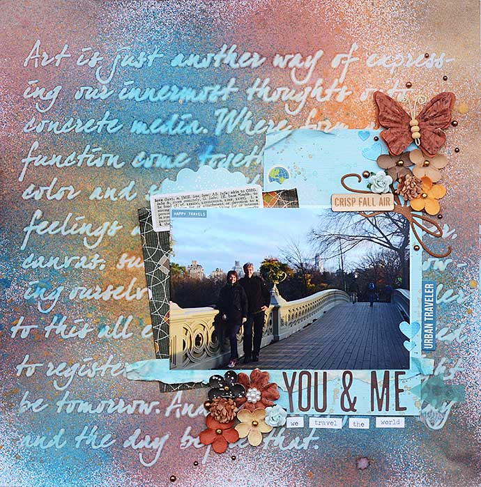 You and Me, scrapbooking layout by Helens Color Life