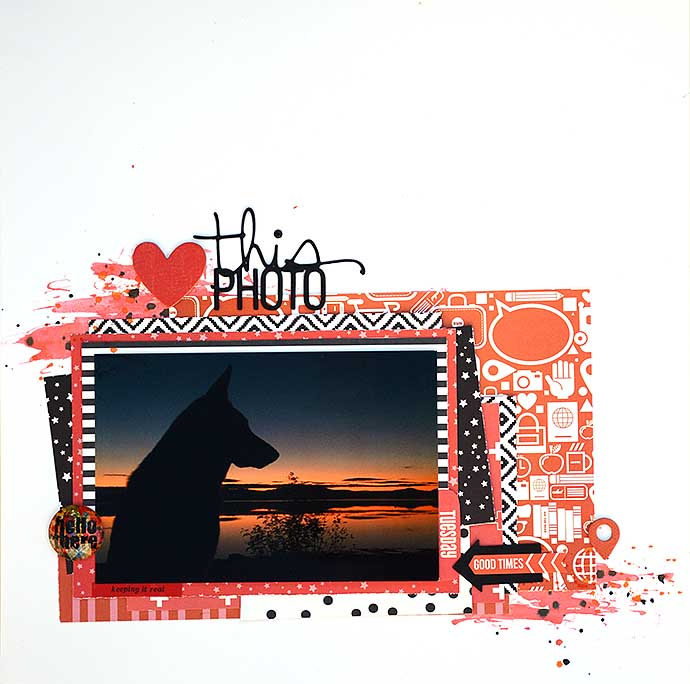 Heart this Photo - scrapbooking layout - by Helens Color Life