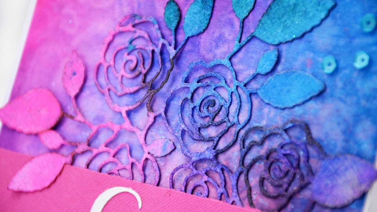 Blomkort i klara färger