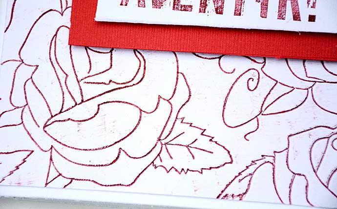 Embossat roskort, bakgrund, by Helens Color Life