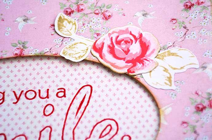 Altenew vintage roses card av Helen Thalen