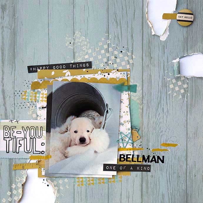 Bellman scrapbooking LO by Helens Color LIfe