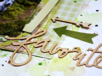 Favorite, en scrapbooking layout i grönt