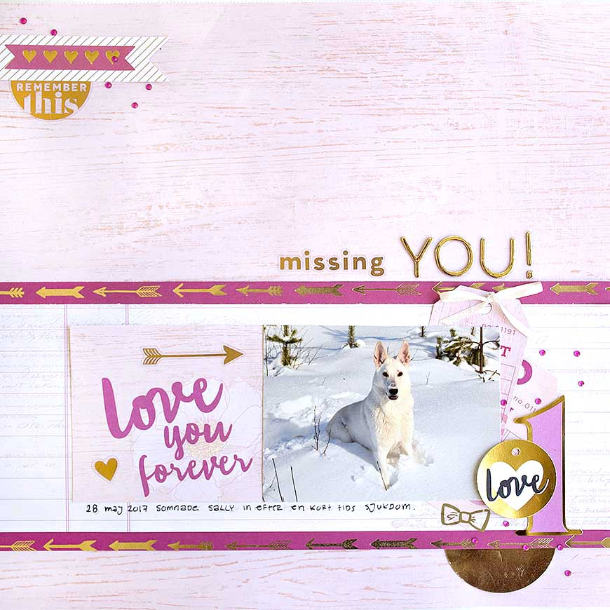Missing you - scrapbook layot by Helens Color Life