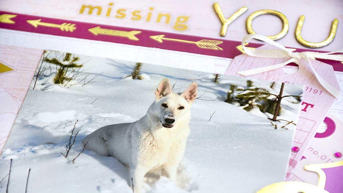 Missing you - måndagsskiss hos Swe Scrapbook