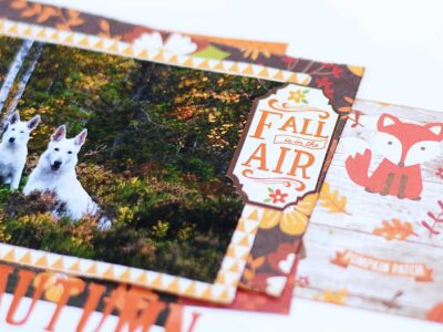 Beautiful autumn, en scrapbooking layout