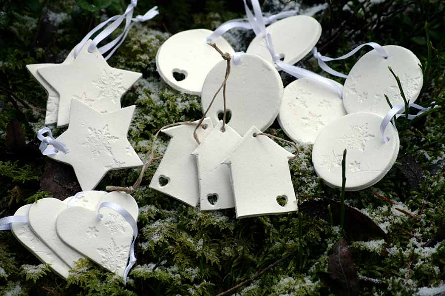 Julgranspynt i vit lera av HelensColorLife
