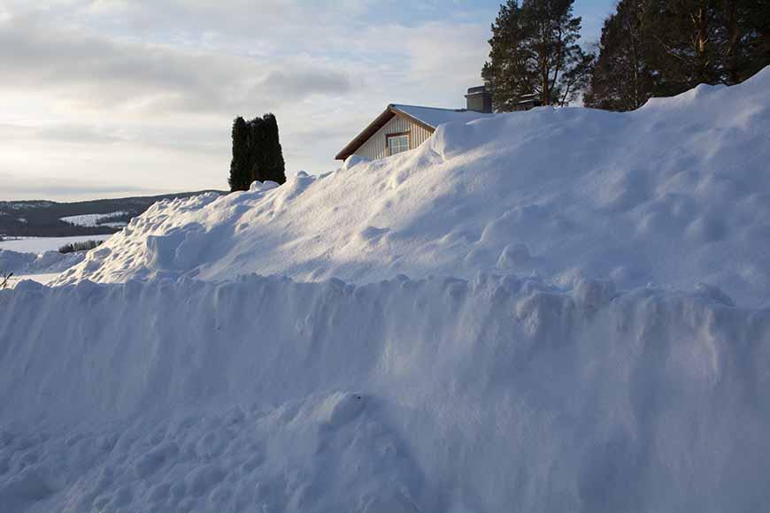 Stor mängd med snö av Helen Thalen