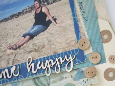 A scrapbooking layout to Challenge YOUrself