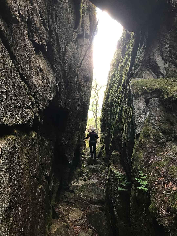 Geocaching i skrevan på Högbonden av Helen Thalen