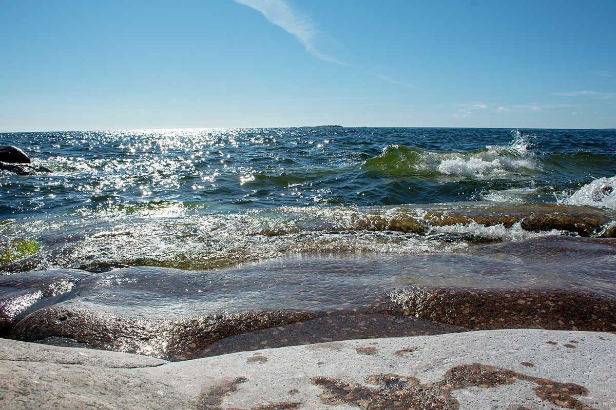 Havet vid Skeppsmalens fyr av Helen Thalen