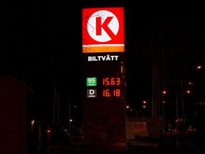 Ruskiga bensinpriser